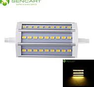 R7S 118mm 27x 5730SMD 9W Warm White / Cool White 900LM 220°Beam Horizontal Plug Lights Dimmable Flood Light AC85-265V