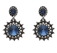 Earring Drop Earrings Jewelry Women Wedding / Party / Daily / Casual Crystal / Alloy 20pcs Dark Blue / Black