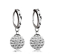 Lureme®  Korean Fashion 925  Sterling Silver Studded With Drill Shambhala Earrings