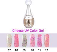 Uñas de gel polaco ULTRAVIOLETA del gel 1pcs queso 24 colores de gel 12ml duradero esmalte de uñas 7.12