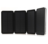 6W 10000mAh Solar Panel Mobile Phone Charger with LED Touch