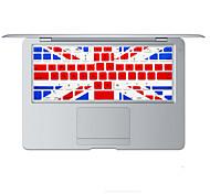diseño de la bandera británica cubierta del teclado de silicona de la piel para el aire del macbook 13.3, MacBook Pro con retina 13 15 17