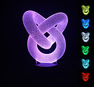 Visual 3D Abstract Model Mood Atmosphere LED Decoration USB Table Lamp Colorful Gift Night Light