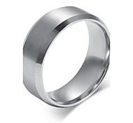 Классические кольца Титановая сталь Мода Простой стиль Серебряный Бижутерия Для вечеринок Повседневные 1шт