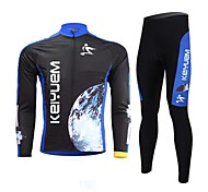 KEIYUEM® Unisex Long Sleeve BikeWaterproof / Breathable / Quick Dry / Windproof / Insulated / Rain-Proof / Dust Proof / Compression /