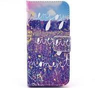 Für iPhone 5 Hülle Geldbeutel / Kreditkartenfächer / mit Halterung / Flipbare Hülle Hülle Handyhülle für das ganze Handy Hülle Landschaft