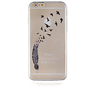 Black Birds Pattern Transparent Phone Case Back Cover Case for iPhone6 Plus/6S Plus