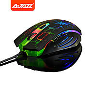Ajazz 2400 DPI Optical Adjustable Colorful Lights Wired High-Precision Programmable Laser Gaming Mouse