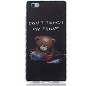 Don't Touch My Phone Pattern Transparent TPU Soft Case for Huawei P8 Lite