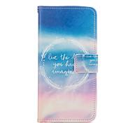 hemel brieven patroon pu lederen full body case met kaartsleuven en staan Case voor Samsung Galaxy a5 / a7