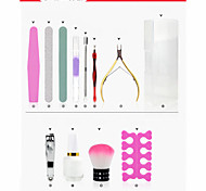 12PC Nail Art Care Tool Polish Kits and Nail Tool Box