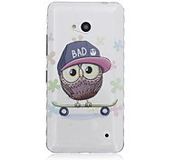 Skate Bird Pattern Transparent TPU Soft Case for Nokia 640