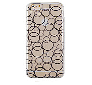 Black Circles Pattern Transparent Phone Case Back Cover Case for iPhone6/6S