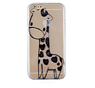 Black Deer Pattern Transparent Phone Case Back Cover Case for iPhone6 Plus/6S Plus