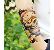 Cool Skulls Tattoo Stickers Christmas / New Year Flower Series Paper 1pcs 22*16*0.1cm