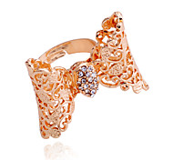 Korean Drill Hollow Out Bowknot Alloy Ring