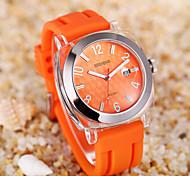 data Weiqin alça de silicone macio esportes casuais relógios mulheres água choque marca senhora resistente relógio de forma