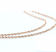 18k Rose Golden Chain Necklace (Length:46cm)Tiny Necklace