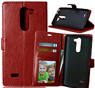 Luxury PU Leather Card Holder Wallet Stand Flip Cover With Photo Frame Case For LG G3 Stylus D690 D693 (Assorted Colors)