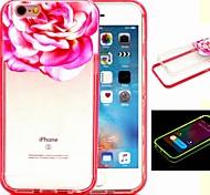 2-in-1 die Königin der Blumen-Muster-TPU rückseitige Abdeckung mit pc Autostoßfest Hülle für iPhone 6 / 6S