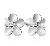 Lureme®  Korean Fashion 925  Sterling Silver Alice Zircon Earrings