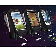 Sac de cadre de vélo / Sac de téléphone portable / Sacoche de Vélo Etanche / Vestimentaire / Ecran tactile / Téléphone/Iphone