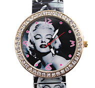 Woman's Watches 2015 High-Grade Korean Foreign Trade Fashion Marilyn Monroe Elastic Contraction Strip Diamond Watch