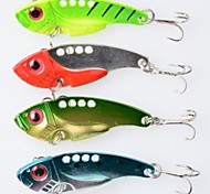 Anmuka  4Color Fishing Sinking VIB Lure Vibration Rattle Hook Crankbait Baits 7g  5.5cm  Free Shipping