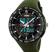 Masculino Relógio de Pulso Digital LED / Calendário / Cronógrafo / Impermeável / Dois Fusos Horários / alarme / Relógio Esportivo PU Banda