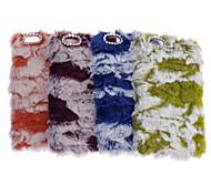 caldo peluche stile pelliccia caso protettivo del pc alla moda per iphone 6s 6 più / iphone più (colori assortiti)