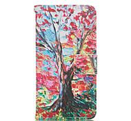 Scheda di reticolo albero stand Custodia in pelle per Huawei p8 / p8 lite