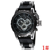 Men's Explosion Models Big Dial Fashion Sport Silicone Watch Wrist Watch Cool Watch Unique Watch