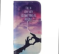 Finger Love Pattern Cell Phone Leather For iPhone 5/5S