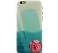 esfera vermelha de alta qualidade e bom estojo rígido padrão de preço para iphone 6 / 6s
