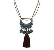 European Style Retro Fashion Tassel Flower Necklace