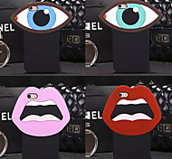 venta caliente boca grande y los ojos suave cubierta de la caja protectora de silicona para el iphone 6 más / 6s más (colores surtidos)