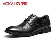 Aokang Men's Leather Oxfords Black