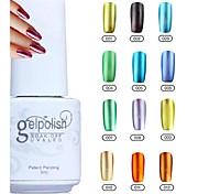 colori yemannvyou®12 impregna fuori del metallo di colore del gel uv no.1-12 polacco (5 ml)