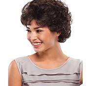preto cor da moda fofo cabelo encaracolado perucas sintéticas de venda a descoberto.