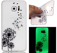 For Samsung Galaxy Note Glow in the Dark Case Back Cover Case Dandelion TPU Samsung Note 5