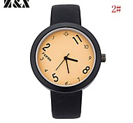 Men's Fashion Personality Leather Quartz Analog Bracelet Watch(Assorted Colors)