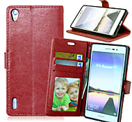 Crazy Horse Flip PU Leather Stand Business Case Cover with Card Slots for Huawei Ascend P7  (Assorted Color)