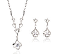 Schmuckset Modisch Luxus-Schmuck Imitation Diamant Gold/Weiß 1 Halskette 1 Paar Ohrringe Für Hochzeit Party Alltag Normal 1 Set