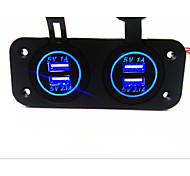 Dual USB Car Charger. New,.  With Waterproof Function