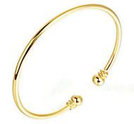 Bracelets Rigides 1pc,Or jaune Bracelet Plaqué or Bijoux Femme