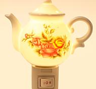 Creative Design Teapot-shaped  Ceramic Lamp Night Light Bedside Lamp Fragrance