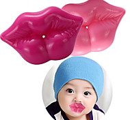 Silicone 3D Lip Baby Pacifier Sexy Kiss Infant Pacifiers Baby Shower (Random Color)