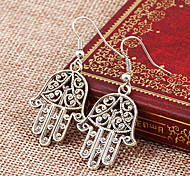 Lureme®  Punk Style Retro Individuality Hollow Out Hand Of Fatima Alloy Earrings