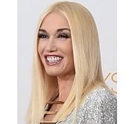 cor loiro médio perucas sintéticas retas da mulher