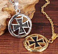 Circle the Cross Cool Men's Stainless Steel Necklace